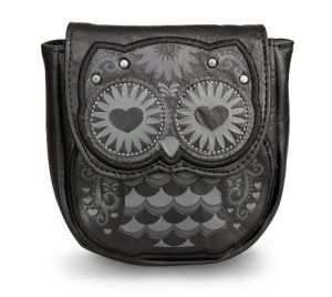 Black Owl Coin Bag