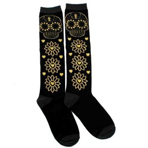 Gold Skull Socks