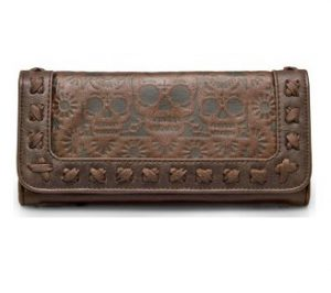 Brown Skulls Wallet