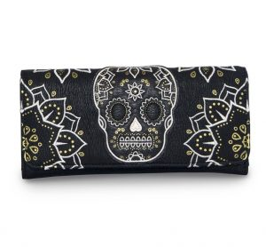 Cream & Gold Skull Wallet