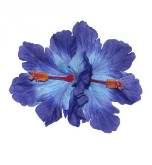 Debra Double Blue Hibiscus Hair Flower