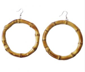 Round Bamboo Earrings