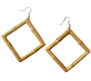 Square Bamboo Earrings