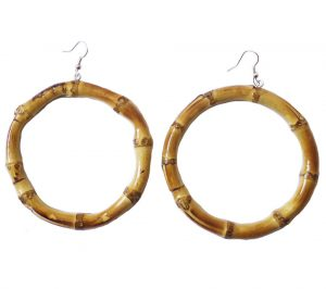 Oversized Round Bamboo Earrings