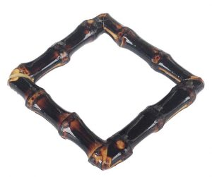 Square Bamboo Bangle (burnt wood)