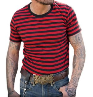 Striped Tee Red/Black