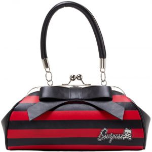 Floozy Purse Black/Red Striped
