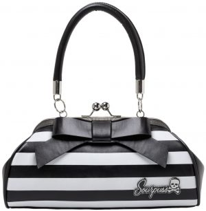 Floozy Purse Black/White Striped
