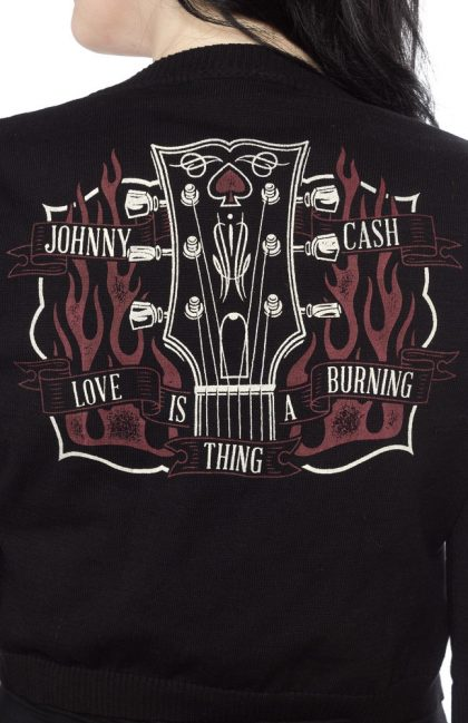 Johnny Cash Burning Cardigan