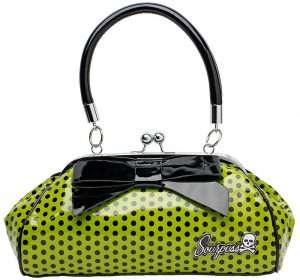 Floozy Purse Green Polka Dot
