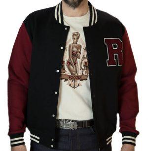 College Jacket (black/bordeaux)