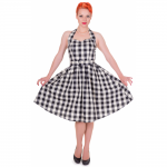 Sophie Dress Checkered Black