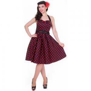 Sophie Dress Dots Black/Red