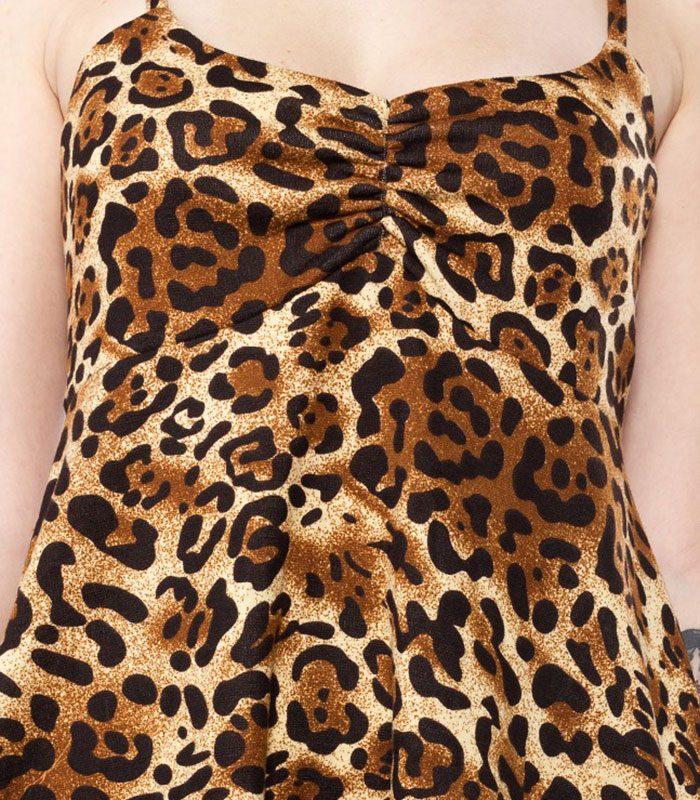 leopard klänning