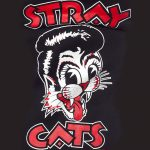 Stray Cats Hoodie Rockabilly kläder dam