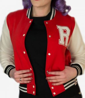 Rumble59 College Baseball jackor. Rockabilly 50-tal jacka kläder dam