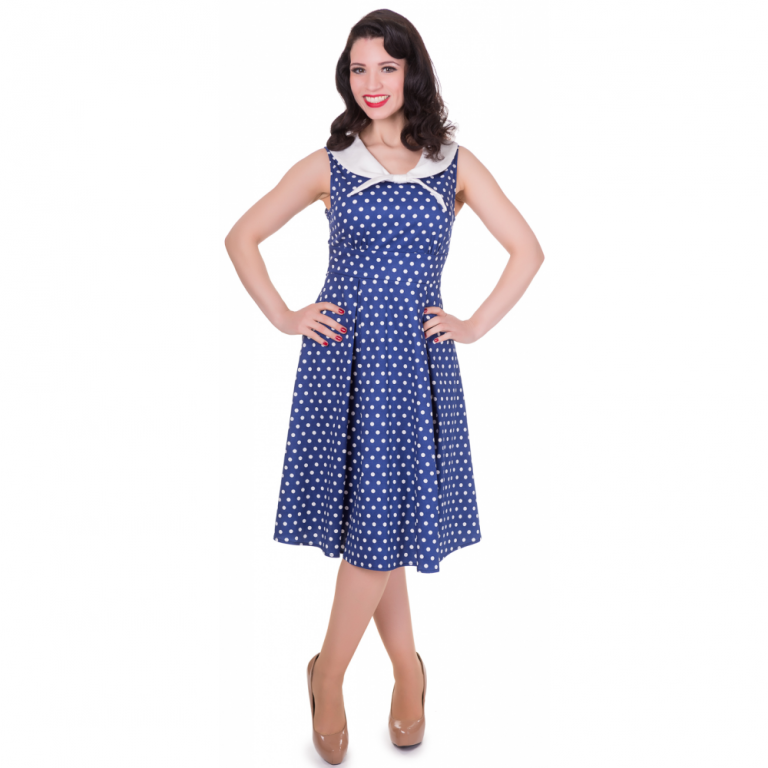 Sally Dress Dark Blue