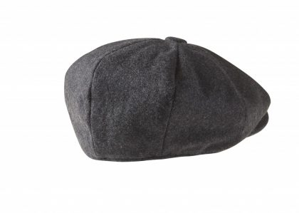 Charcoal Grey Newsboy Cap