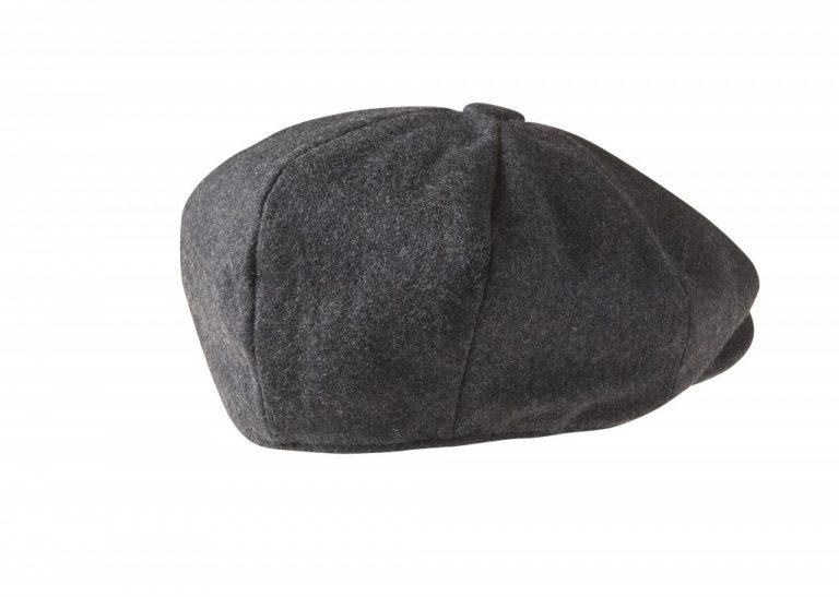 Charcoal Grey Newsboy Cap