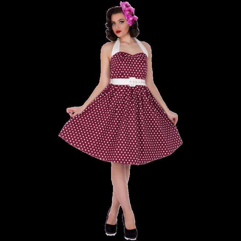 Sophie Dress Dots Dark Purple