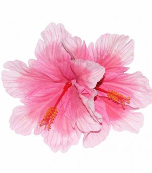 Debra Double Pink Hibiscus Hair Flower