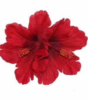 Debra Double Red Hibiscus Hair Flower
