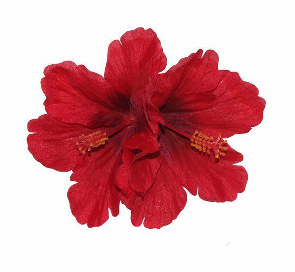 Debra Double Red Hibiscus Hair Flower