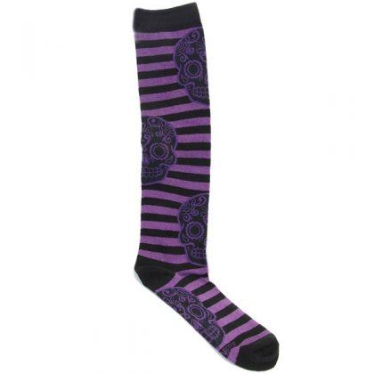 Purple Skull Socks