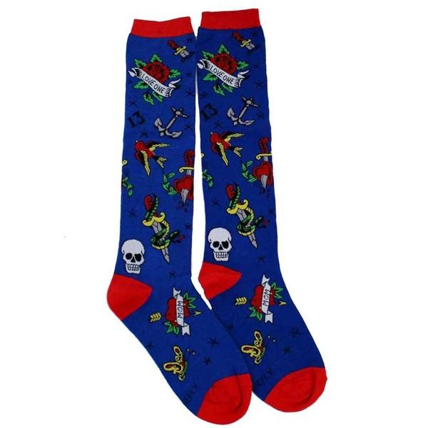 Blue Tattoo Socks