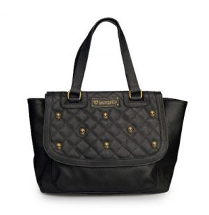 Quilted Stud Skulls Bag
