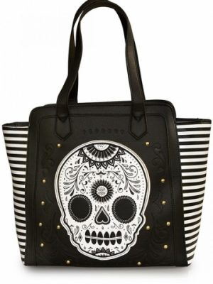 Black/white Stripe Skull