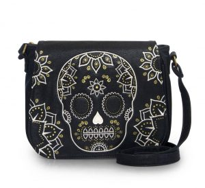 Cream & Gold Skull Crossbody