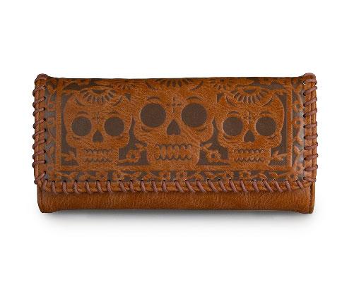 Tan Skulls Wallet