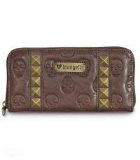 Brown Stud Skull Wallet