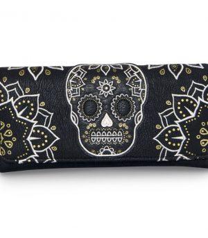 Cream & Gold Skull Wallet