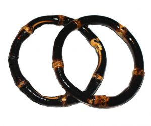 Bamboo Bangle 2-pack (burnt wood)