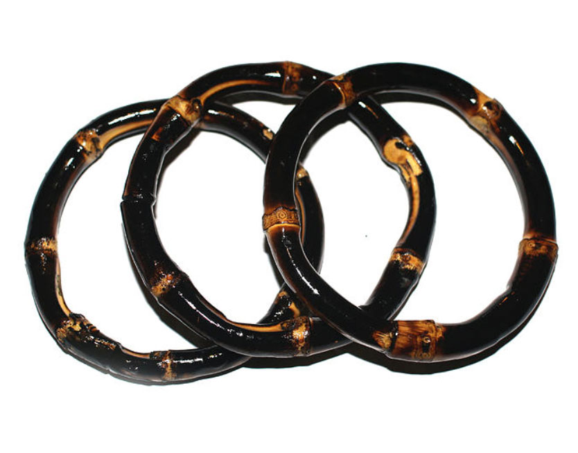 Bamboo Bangle 3-pack (burnt wood)