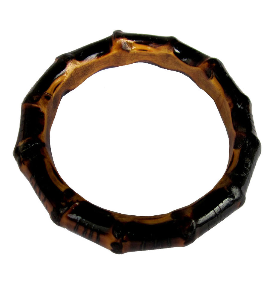 Chunky Bamboo Bangle (burnt wood)