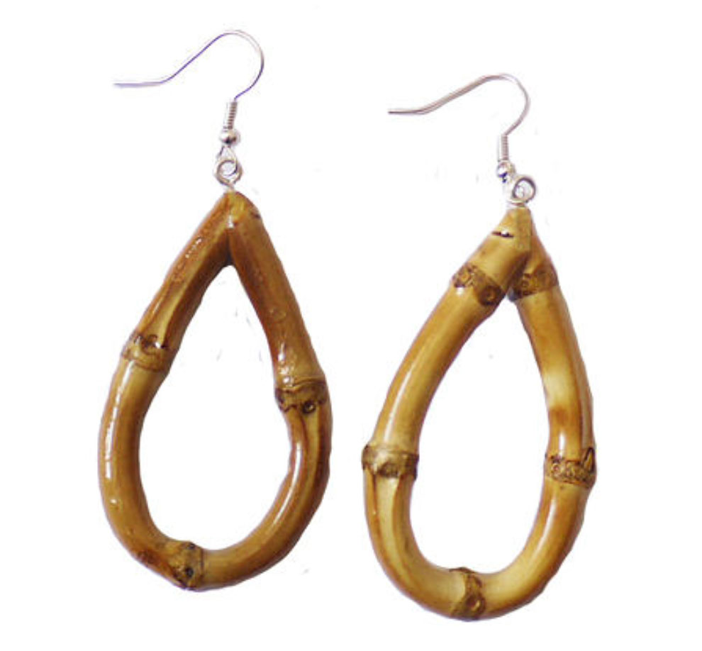 Oval Bamboo Earrings