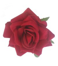Bearnie Red Velvet Rose Hair Flower