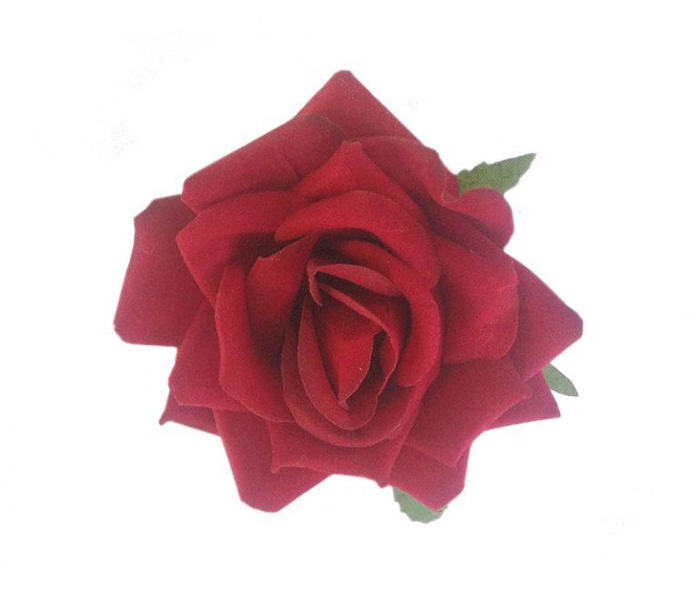 Bearnie Red Velvet Rose Hair Flower