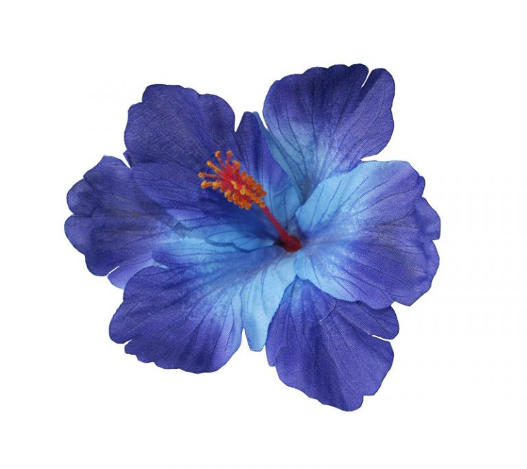 Debra Blue Hibiscus Hair Flower