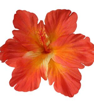 Debra Orange Hibiscus Hair Flower