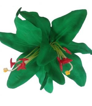 Paloma Double Lily Emerald Green Hair Flower