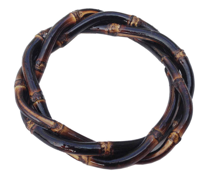 Twisted Bamboo Bangle (brunt wood)