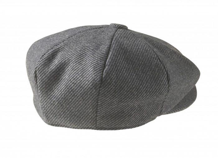 Grey Pinstripe Newsboy Cap