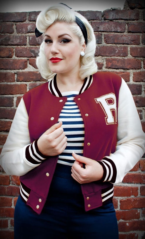 College Jacket (bordeaux)