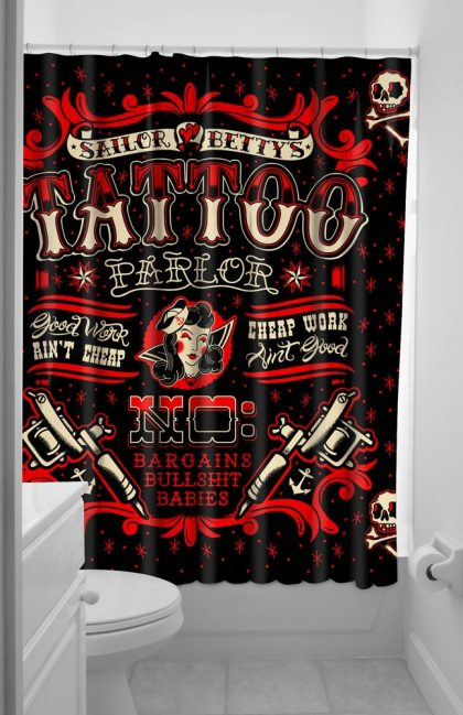 Sailor Betty Shower Curtain
