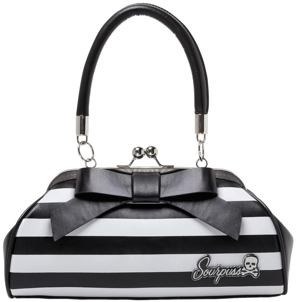 Floozy Purse Black/White Striped