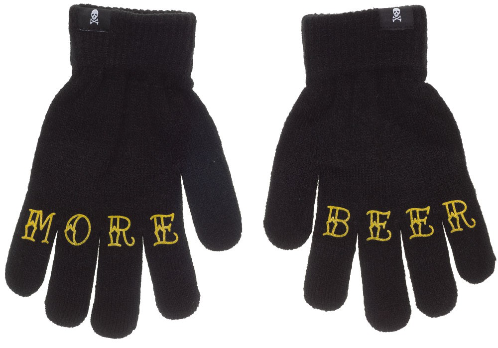 MORE BEER gloves